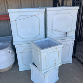 SOLD OUT-- Fibreclay Square Planters White