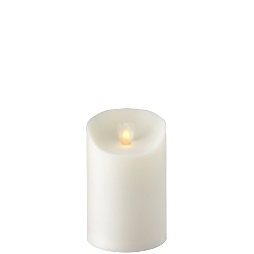 """3.5 """"X5 """" Moving Flame Outdoor Ivory Pillar Candle"""