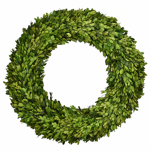 "20"" Preserved Boxwood Round Wreath"