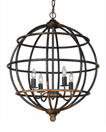 Burns 4-LT Metal Chandelier