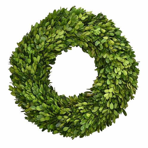 "16"" Preserved Boxwood Round Wreath"