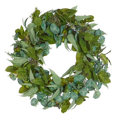 """26"""" Mixed Eucalyptus Wreath"""