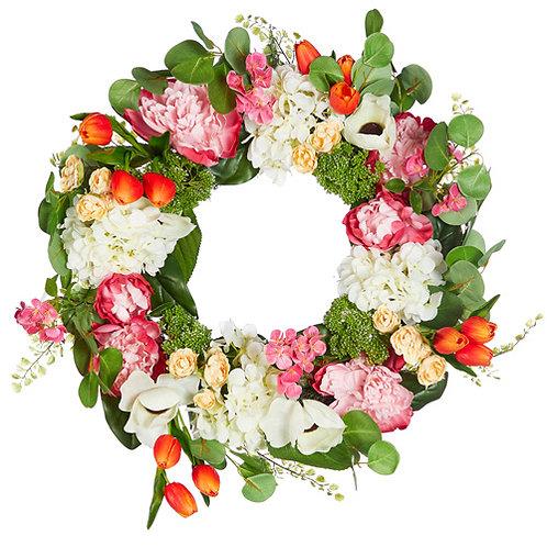 "24"" Tulip and Peony Wreath"