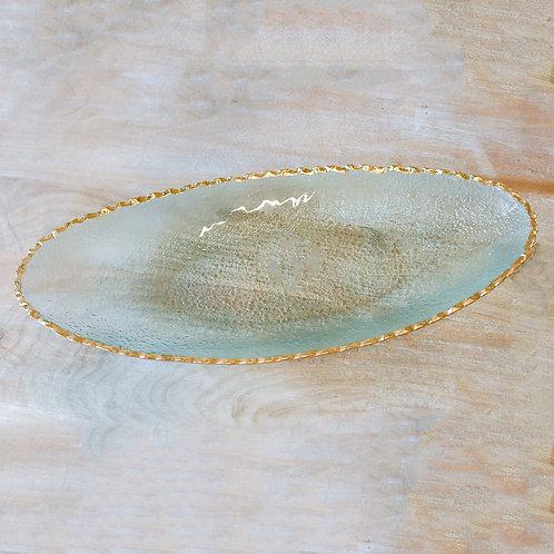 Fairbanks Oval Platter - Gold