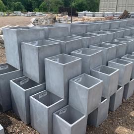 Fiberclay Planter - Gray Stone