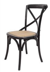 Brody X-Back Side Chair (Black Wash)