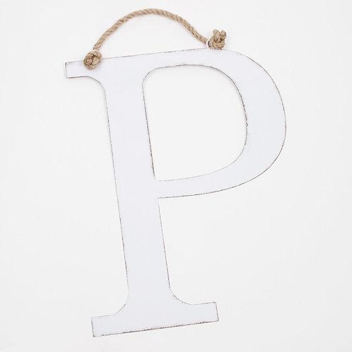 "22"" Antique White Metel Letter"