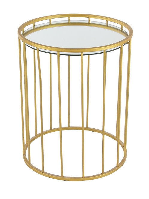 Gold Cage Side Table - 3 sizes, sold seperatly