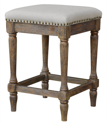 Walker 24in Counter Stool (Classic Oatmeal Linen)