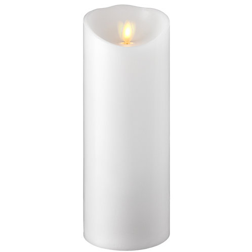 "3.5 ""X9"" Moving Flame White Pillar Candle"