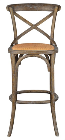 Bennett 30in X-Back Stool (Brown Wash)