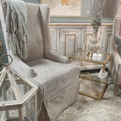 Riley Chair with Snow Leopard Slip Cover