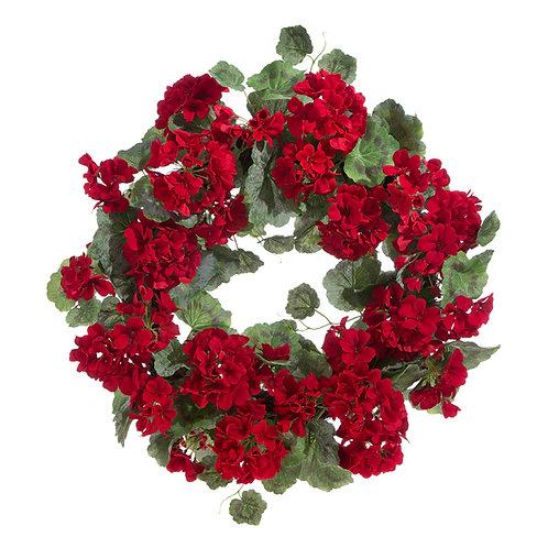 """22"""" Geranium Wreath"""