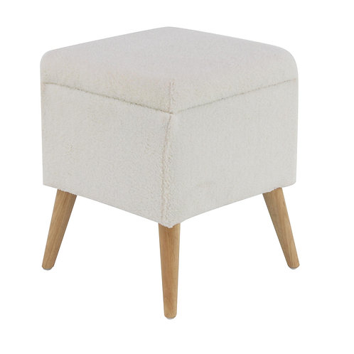 Fabric Storage Seat - Ivory
