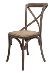 Brody X-Back Side Chair (Brown Wash)