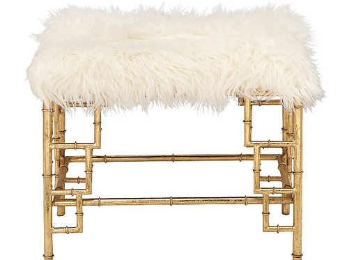 Faux Fur Hair Stool