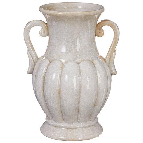 """11.75"""" Handled Fluted Vase"""