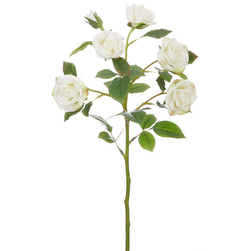 """22"""" Real Touch White Rose Spray"""