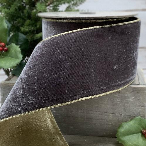 Grey Lush Velvet Ribbon