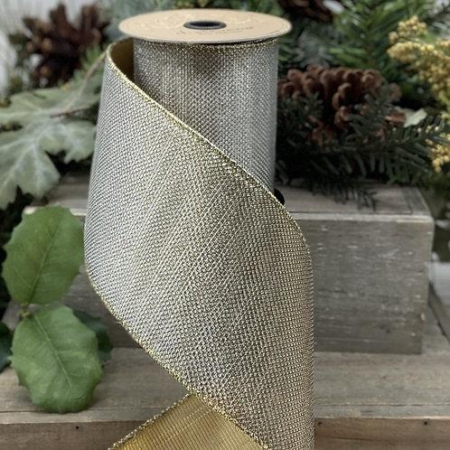 Gold/Silver Dot Lame Ribbon