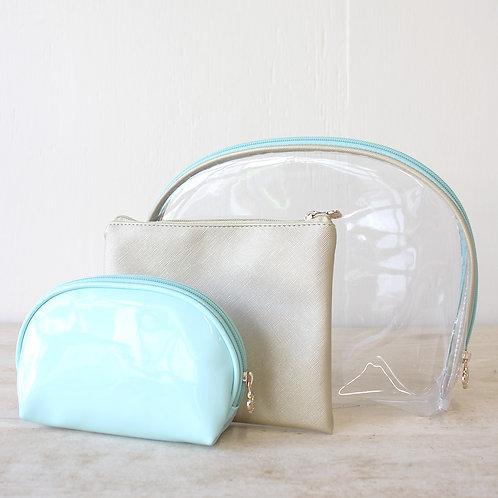 Mint Manhattan Cosmetic Bags