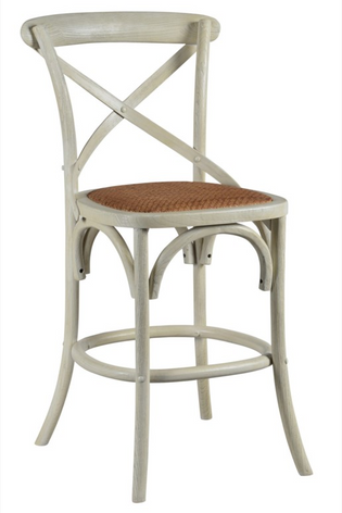 Bennett 24in X-Back Stool (Cottage White)