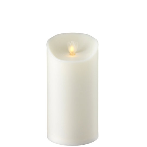 "3.5 ""X7 "" Moving Flame Outdoor Ivory Pillar Candle"