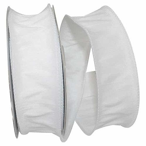 White Dupioni Supreme Silk Ribbon