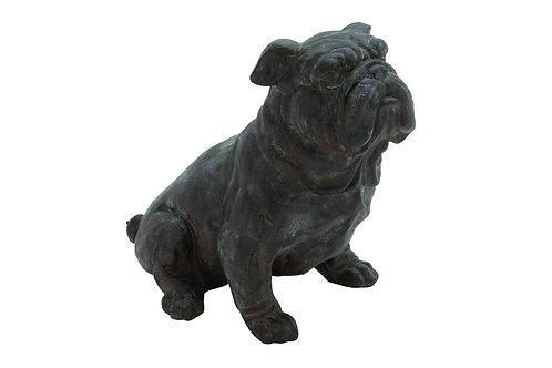 "Bull Dog Statue 10""W X 11""H"