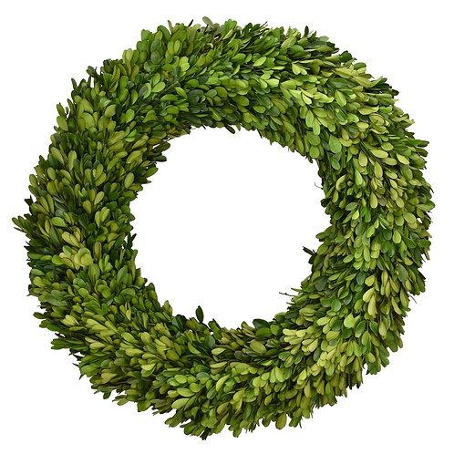 "24"" Preserved Boxwood Round Wreath"