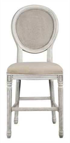 Maddox 24in Mesh Back Stool (Oatmeal Linen)