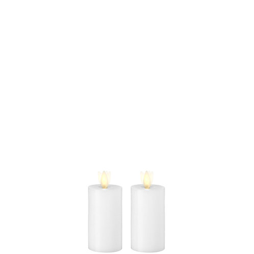 """2 """"X4 """" Moving Flame Set/2 White Wax Votive Candle"""