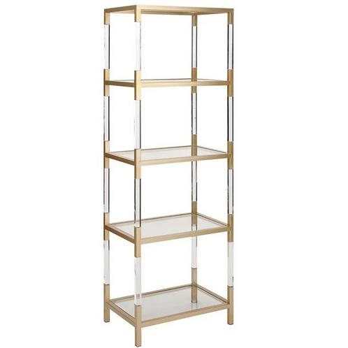 Kendall Gold & Acrylic Shelf - 22 X 69
