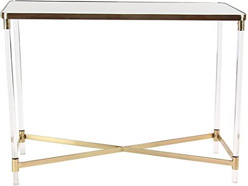Priscilla Mirrored Console Table