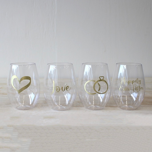 Getting Married To Go Wine Glass Set