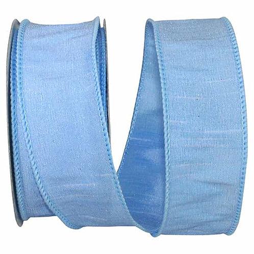 Light Blue Dupioni Supreme Silk Ribbon
