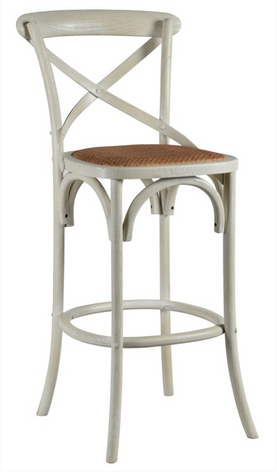 Bennett 30in X-Back Stool (Cottage White)