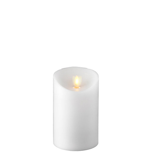 "3.5 ""X5.5 "" Moving Flame White Pillar Candle"
