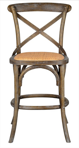 Bennett 24in X-Back Stool (Brown Wash)