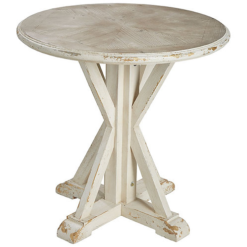 """31.25"""" Distressed Accent Table"""