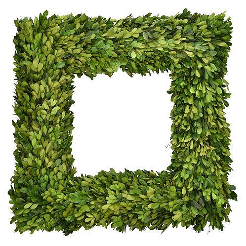 "20"" Preserved Boxwood Square Wreath"