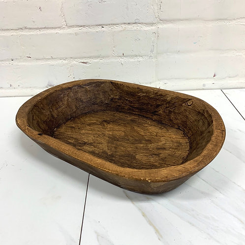 Small Flat Bottom Doughbowl - Walnut Wash