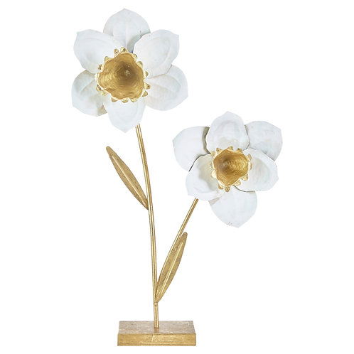 "27.5"" Metal Flower on Stand"