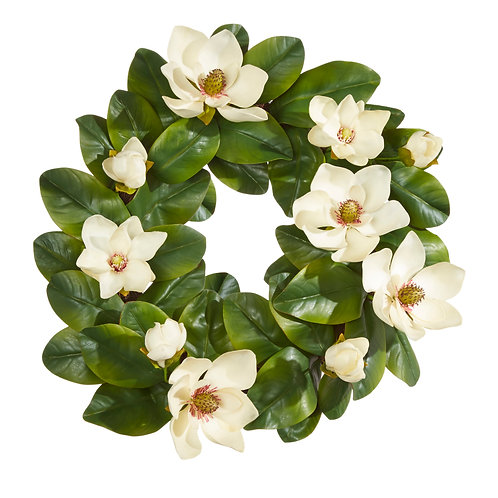 """23"""" Real Touch Magnolia Wreath"""