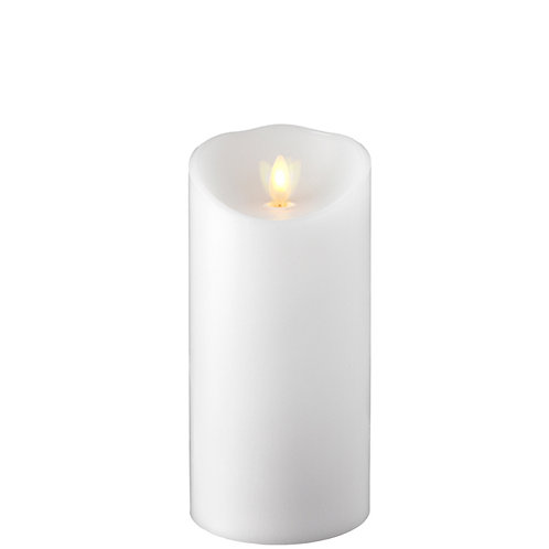 """3.5 """"X7.5 """" Moving Flame White Pillar Candle"""