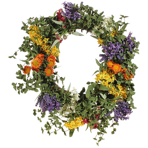 """21"""" Mixed Flower Wreath"""