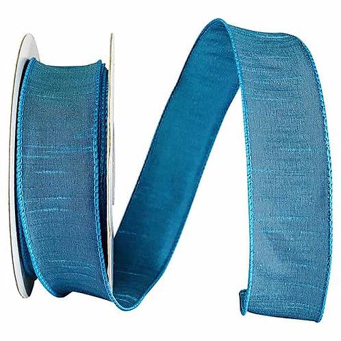 Turquoise Dupioni Supreme Silk Ribbon
