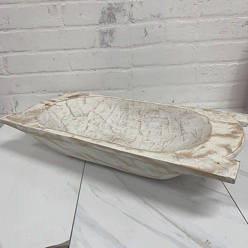Large Horned Doughbowl - White Wash