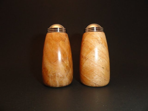 Curly Madrone Salt & Pepper