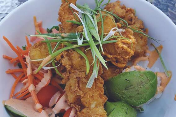 Chicken Tempura Sushi Bowl